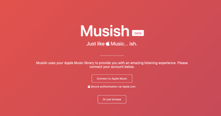 Musish, un interesante reproductor web no oficial para Apple Music