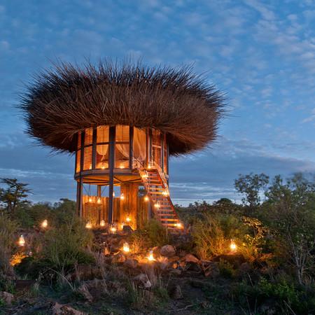 El hotel nido que te permite disfrutar de las mejores vistas de la sabana africana