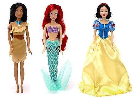 Ocho muñecas de Princesas Disney, juntas esta Navidad