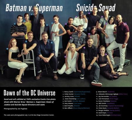 Imagen con los protagonistas de Batman V Superman y Suicide Squad