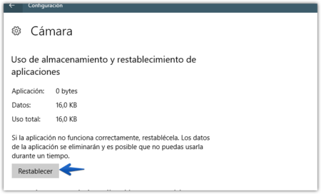 Restablecer Aplicacion Windows 10
