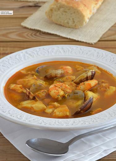 Sopa de pescado. Receta