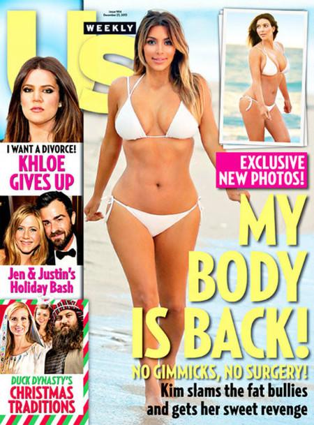 Y Kim Kardashian luce otra vez cuerpo en portada