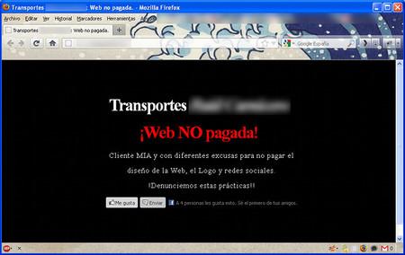 Defacement contra el impago de una web, ¿una solución acertada?