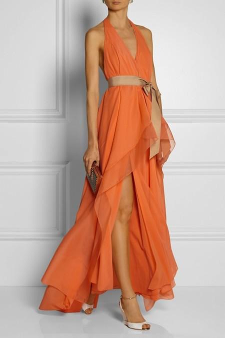 Vestido Naranja Donna Karan Ny