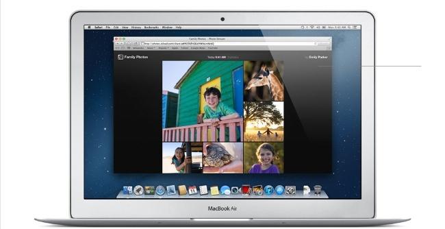 macbook air fotos streaming