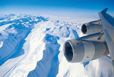 El A380 llega a la Antártida