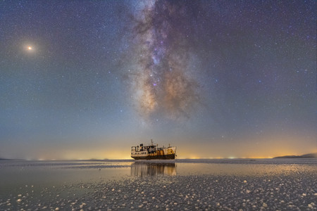 Sharafkhane Port And Lake Urmia R Masoud Ghadiri