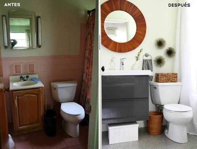 Antes y despu s un cambio de look radical en el cuarto de for En el cuarto de bano