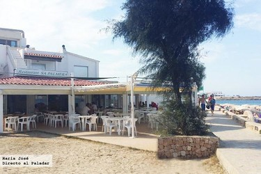 Restaurante Sa Palmera, en la playa Es Pujols de Formentera