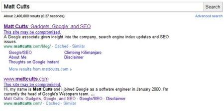 captura pantalla hacked site