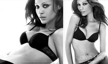 Zoe Saldaña, sus primeras imagenes para Calvin Klein