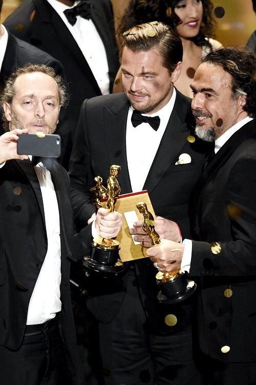Lubezki, DiCaprio e Iñárritu