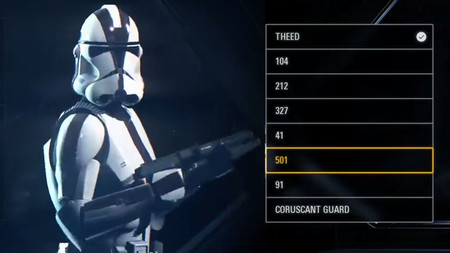 Star Wars Battlefront II: una filtración muestra la personalización de unidades. ¡Reaparece la Legión 501!