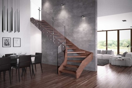 Madera Y Cristal La Combinacion Perfecta Para Una Escalera Solida - Escaleras-de-cristal-y-madera