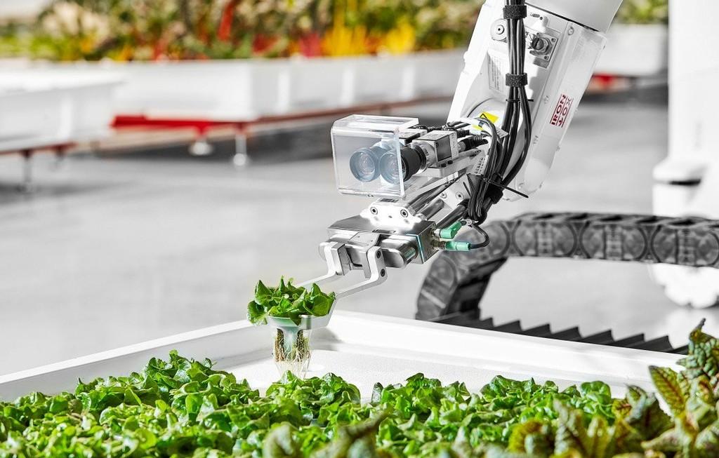 A falta de granjeros, robots: Iron Ox promete producir lo mismo que una granja convencional 5 veces mayor