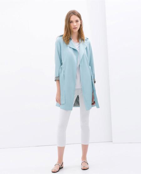 Zara trench azul