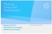 HP y Palm presentarán productos webOS el 9 de febrero, ¿tablet y teléfonos?