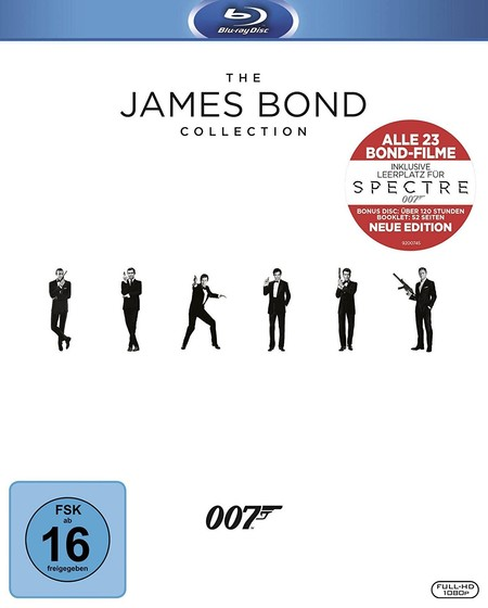 Cyber Monday: pack de 24 películas de James Bond, en Blu-ray, por sólo 63,24 euros