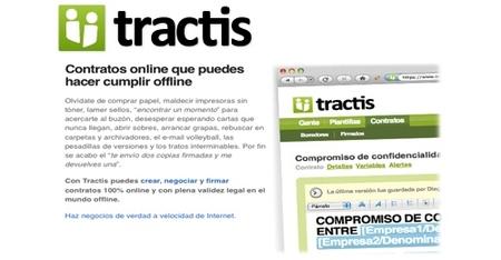 Tractis, creación y gestión de contratos online