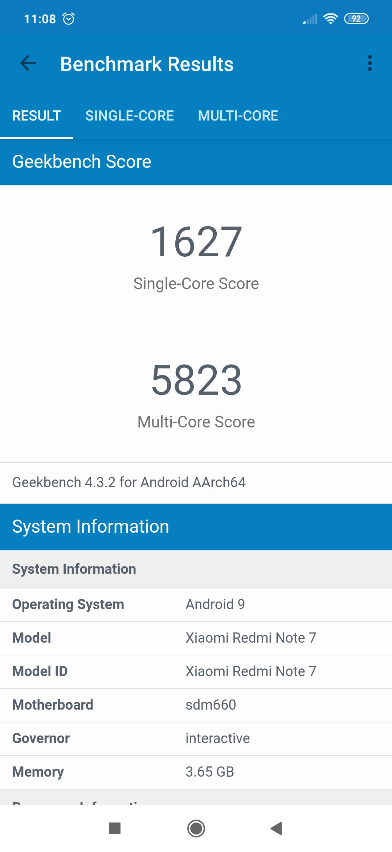 Benchmarks Redmi Note 7