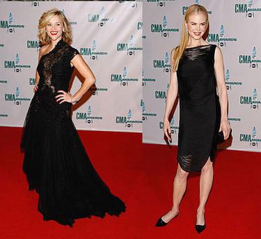 Reese Whiterspoon  y Nicole Kidman en los Country Music Awards 2008