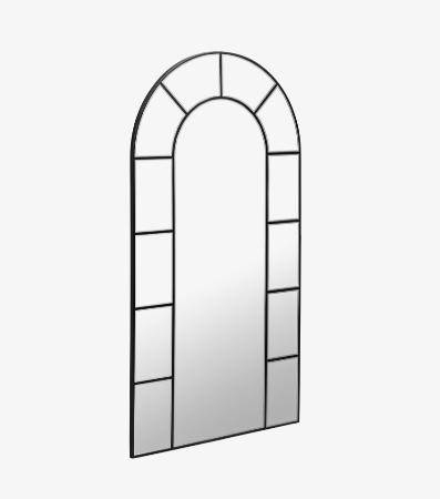 Espejo de pie con diseño de ventanal con unas medidas de 88 x 165 cm.