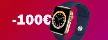 Descuentazo de 100 euros en el Apple Watch Series 6 GPS + Cellular 44 mm de acero inoxidable en Amazon