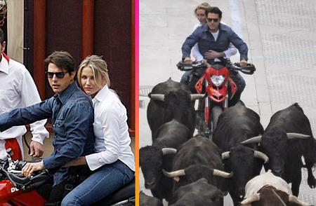 Tom Cruise y Cameron Díaz rodando en Cádiz y Sevilla