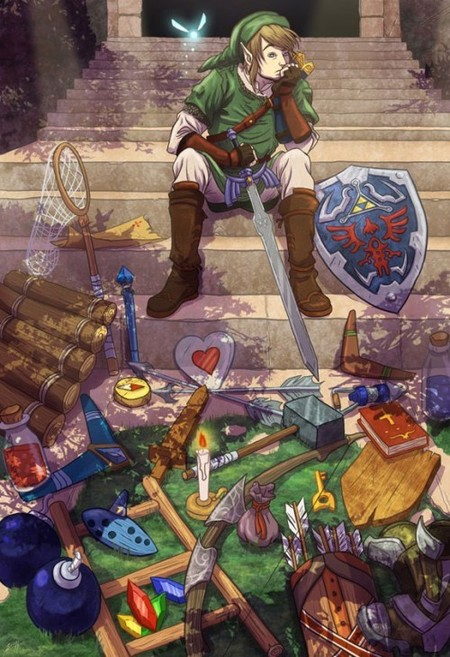 Link y sus pertenencias
