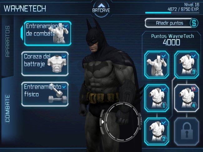 Entrenando al hombre murciélago en Batman Arkham City Lockdown