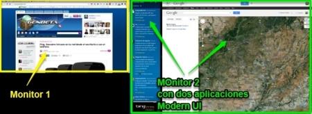 Dos monitores con Windows 8