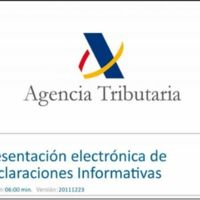Video explicativo de la AEAT para la presentación de las declaraciones informativas de 2011