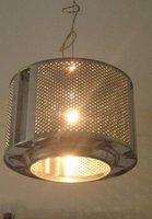Recicladecoración: una lámpara con un tambor de lavadora