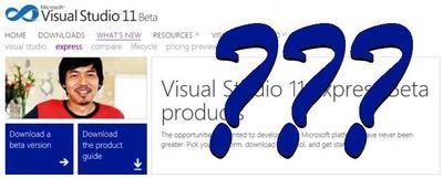 Visual Studio 11 Express Beta, no habrá versión para aplicaciones Desktop