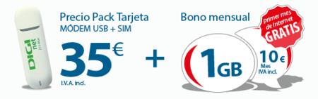 Digi Mobil lanza un bono prepago para módem USB de 1 Gb por 10 euros mensuales