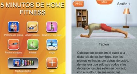 App para ejercicio en casa: 5 minutos de home fitness