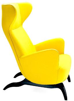 ardea asiento amarillo de zanotta
