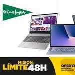Límite 48 Horas de El Corte Inglés: 9 modelos de portátiles HP, LG, o ASUS con descuentos del 11 al 15%
