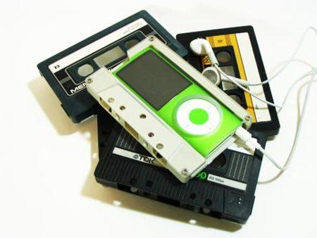 Funda original para el iPod Nano: una cinta de cassette