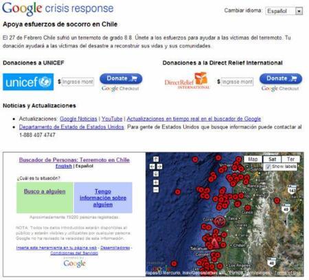 La imagen de la semana: el buscador de personas de Google en Chile