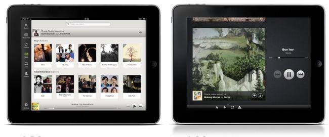 Radio de Spotify en el cliente de iPad