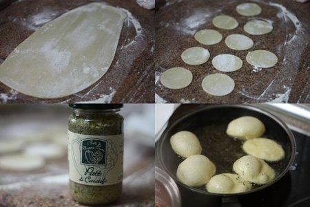 Hacer Minipizzas fritas con paté de alcachofas