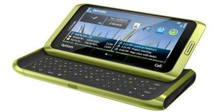 Nokia E7 en verde