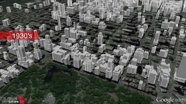 Videos de animación que muestran el crecimiento de grandes ciudades, cien años en un minuto