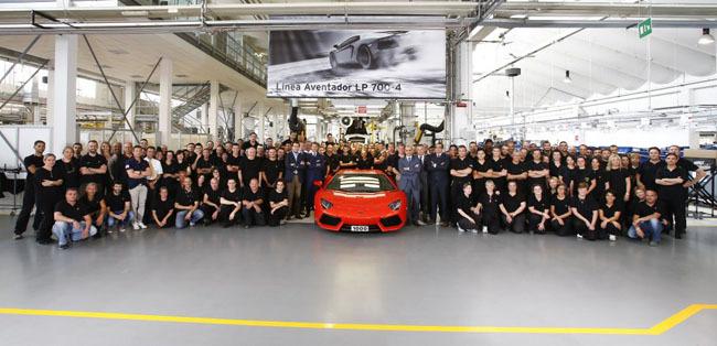 Lamborghini fabrica el Aventador número mil