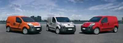 Fiat Fiorino, Peugeot Bipper y Citroën Nemo, las nuevas furgonetas compactas del Grupo Fiat y PSA