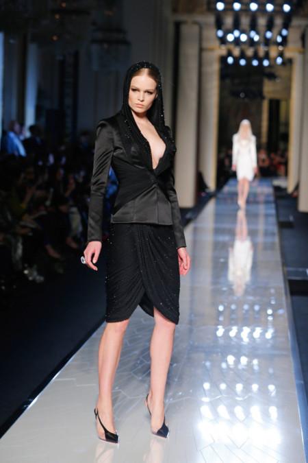 Negro Versace Alta Costura Verano 2014