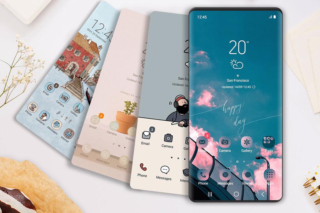 21 temas recomendados para One UI, la capa de personalización de los móviles Samsung