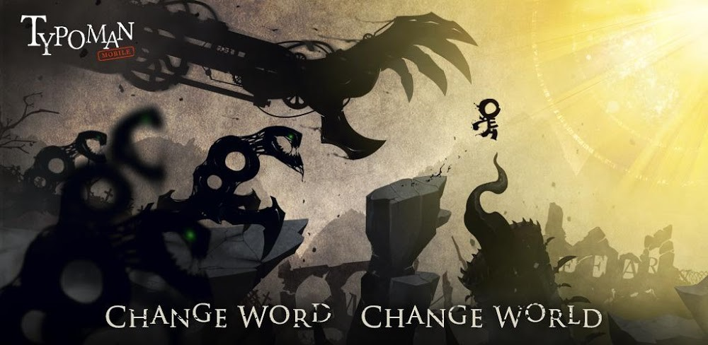 Typoman, the award-winning platformer and words comes to Android